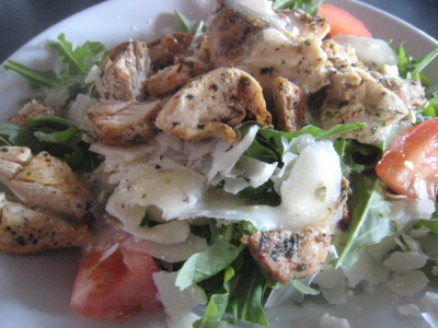 The Roquet Salad w/Chicken and Parmesan Cheese